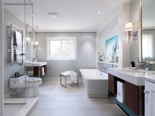 Nội thất gỗ phòng tắm sang trọng hiện đại