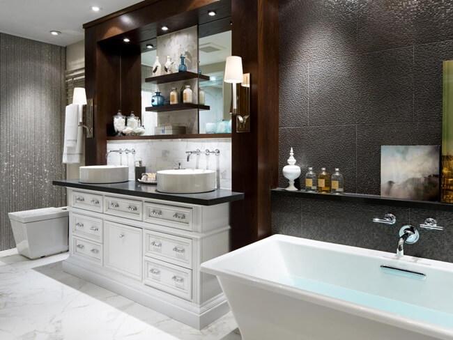 Tủ phòng tắm gỗ sang trọng và hiện đại