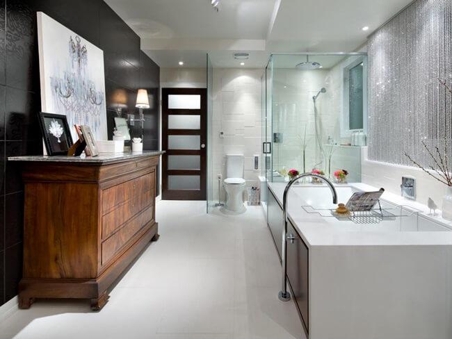 Những mẫu thiết kế nội thất phòng tắm sang trọng từ gỗ