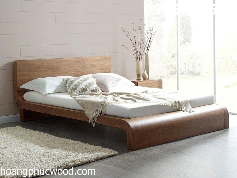 Giường ngủ gỗ óc chó - Bộ giường ngủ gỗ óc chó