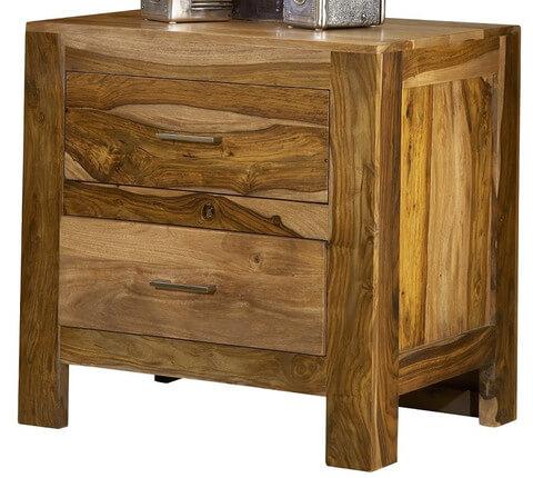 tủ đầu giường gỗ óc chó, tab đầu giường tiện lợi để bỏ đồ.