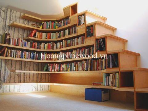 Kệ sách gỗ Teak