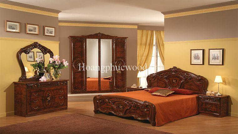 Giường gỗ Teak