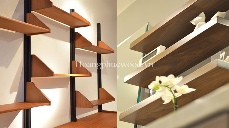 kệ treo tường gỗ Teak