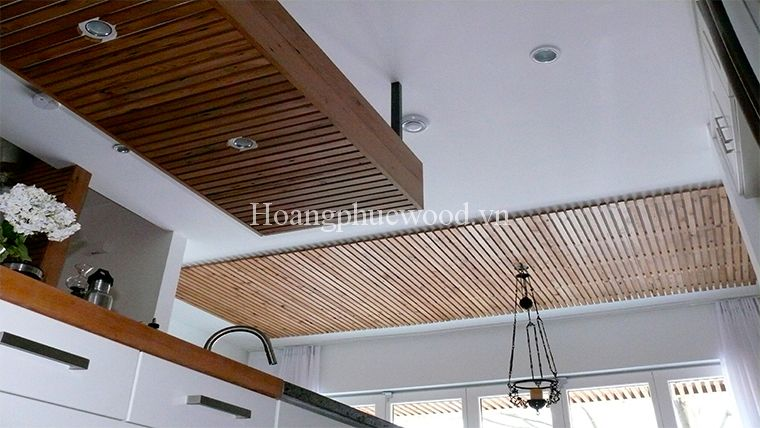 Ốp trần gỗ Teak