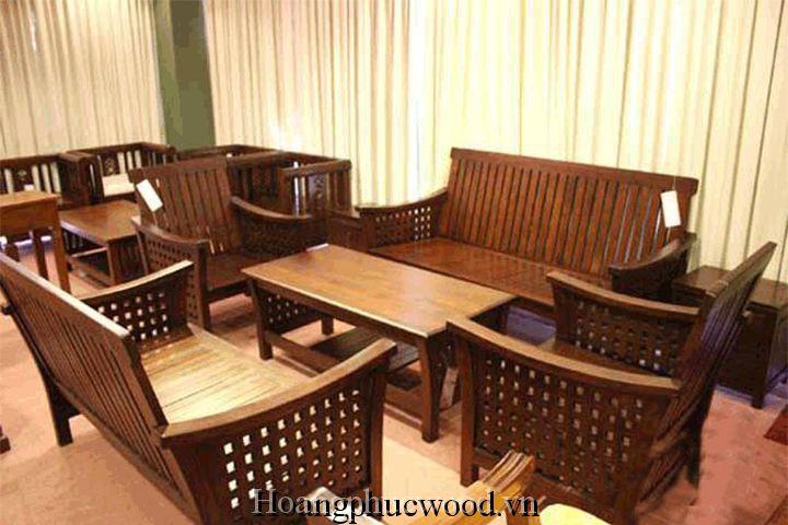 sofa gỗ Teak