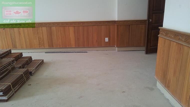 ván ốp tường gỗ Teak