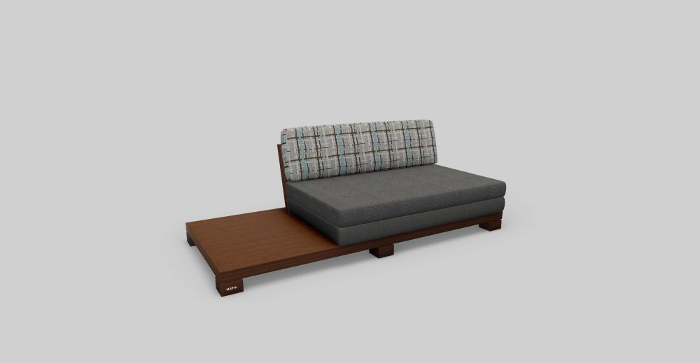 Wooden Sofa With Sub Tabs