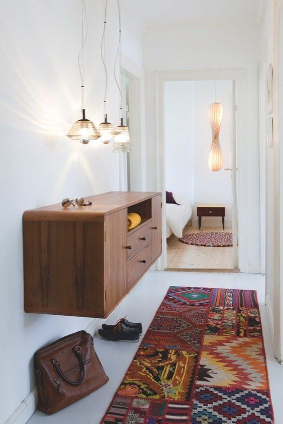 19-a-simple-and-stylish-mid-century-modern-plwyood-floating-console-with-colorful-knobs-for-a-boho-feel