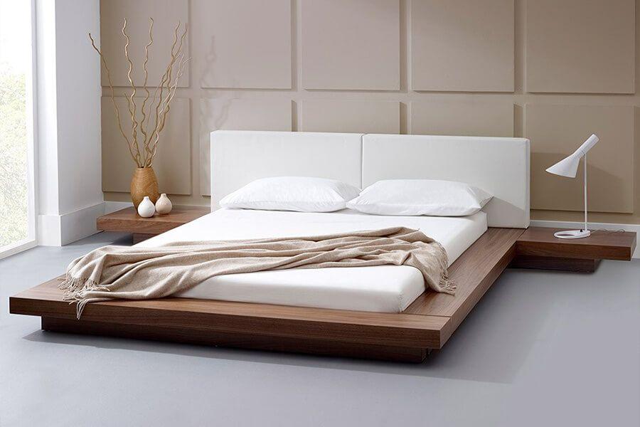 Giường ngủ gỗ tự nhiên - óc chó walnut