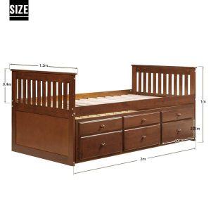 Giường đôi walnut cho trẻ 2