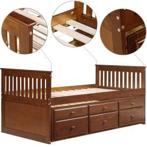Giường đôi walnut cho trẻ 4