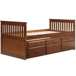 Giường đôi walnut cho trẻ 5