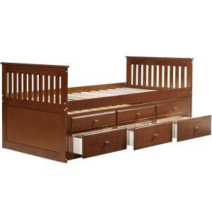 Giường đôi walnut cho trẻ