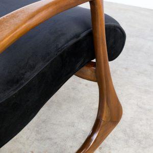 0310049zf Vladimir Kagan Rocking Chair Fauteuil Lounge Ottoman 175f 175gh Usa German New Upholstery Vintage Retro Design Barbmama 10 Van 16