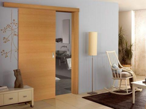 Interior Design Ideen Retro Holztüren Schiebetüren