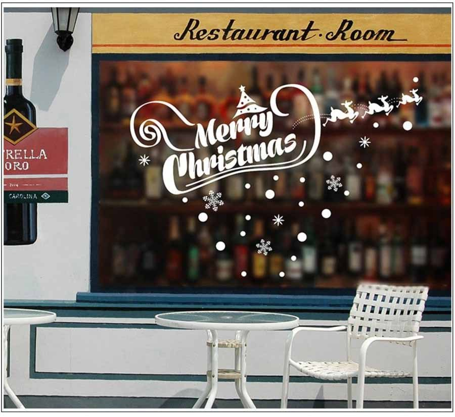 Decal Trang Tri Noel Merry Christmas