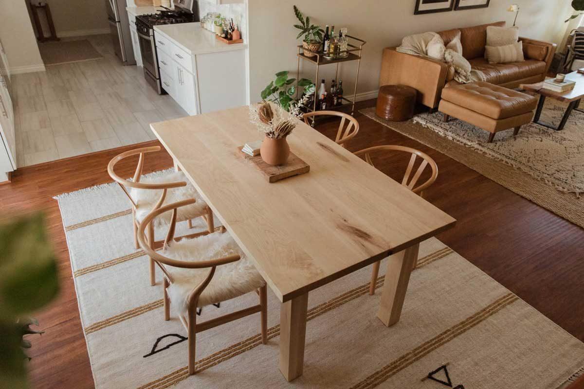 Bộ bàn ăn 4 ghế gỗ Maple