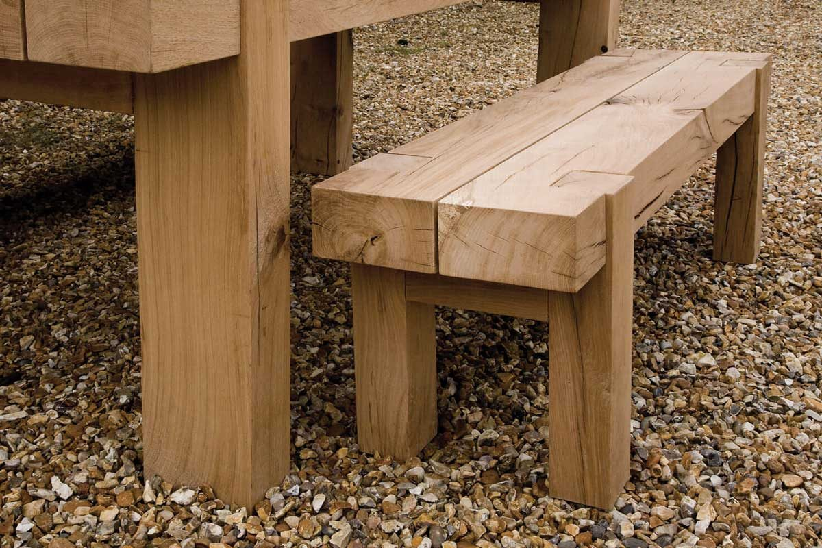 Bàn ghế gỗ Sồi dùng ngoài trời