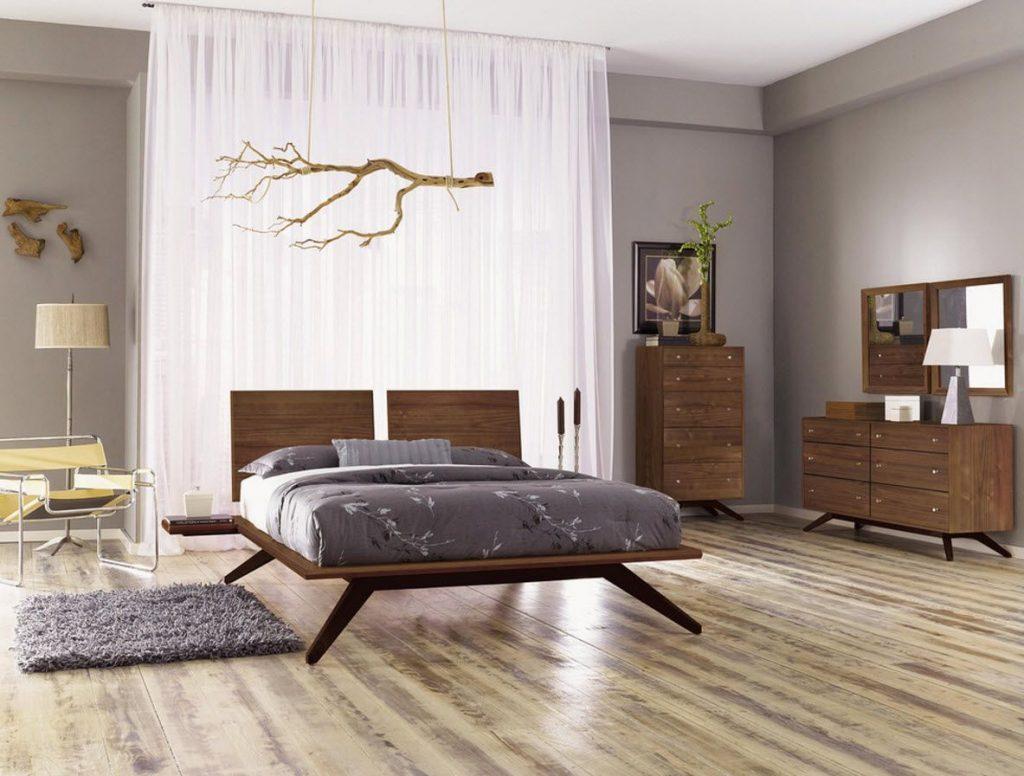 Nội thất gỗ walnut cho phòng ngủ