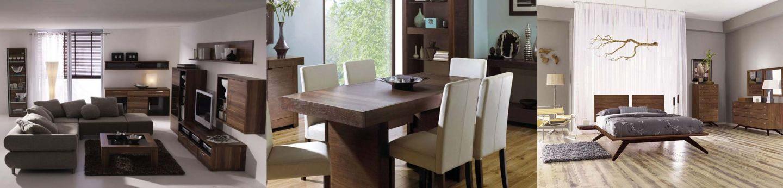 Nội thất Walnut cho phòng khách, phòng ăn, phòng ngủ